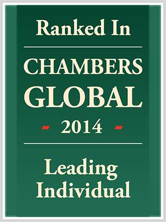 Ranked in CHAMBERS GLOBAL 2014 Leading Individual